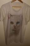 'Bowie cat' full print tee